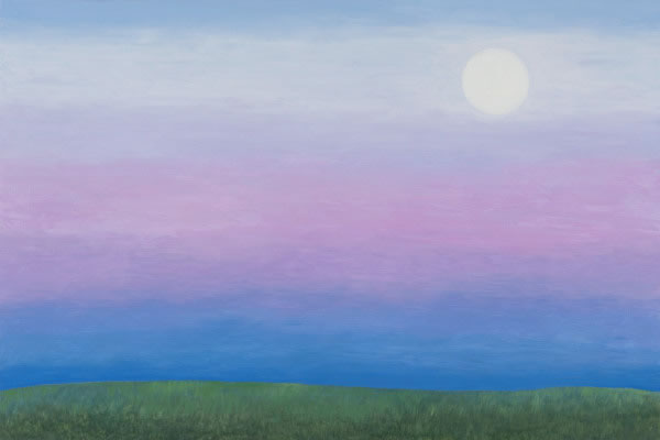 Barbara Thomas, Yesterday I Saw the Moon, oil on board, 16 x 24 inches