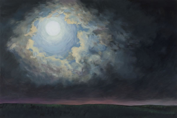 Barbara Thomas, The Moon Like a Flower, oil on board, 16 x 24 inches
