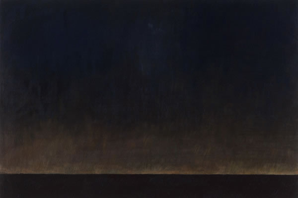 Barbara Thomas, A Poem in the Dark, oil on board, 16 x 24 inches