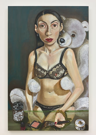 Anh Duong - 'Don't Come too Close, Don't Go too Far',  oil on canvas,  40 x 26 inches,  2012