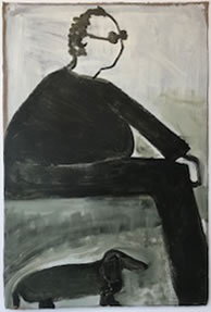 Kathryn Lynch, The Thinker, 2010 Oil on paper, 60 x 48 inches $6,000