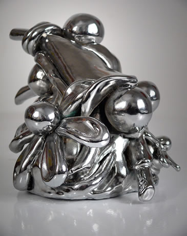 John Monti - Cluster Study I, 2012, Cast urethane resin, epoxy, chrome finish, 6 h x 7 w x 6.5 d inches