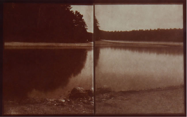Koichiro Kurita -  'Thoreau's Cove', Walden Pond, MA, 2015, Albumen print  from LeGray paper negatives,  10 x 16 inches,  Edition 5, AP 2