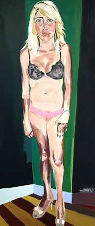 Melora Griffis, 'Erica', 2009, oil on canvas, 72 x 36 inches