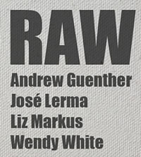 RAW, Andrew Guenther, Jose Lerma, Liz Markus, Wendy WHite, September 15-October 10 2012, Reception Sept. 15 6-8pm